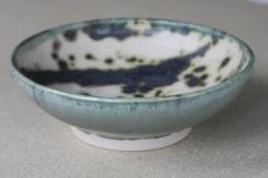 Celadon Glaze with splashed Oxide