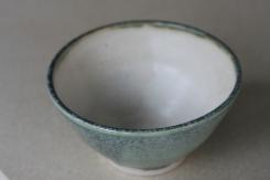 Celadon glaze outer, oatmeal inner