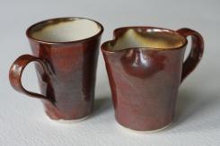 Orange Red Glaze, Mug Jug Combo
