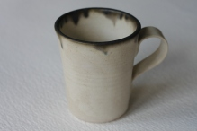 Oatmeal Glaze with Oxzide Rim, Small Cup - £4.50