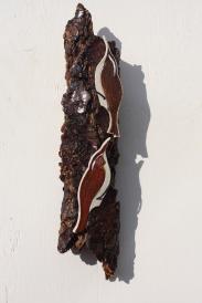 SOLD - Nuthatch & Treecreeper - Celadon, Oatmeal & Orange Red Glazes - £25