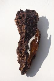 SOLD - Treecreeper - Orange Red & Oatmeal Glazes - £17.50