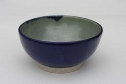 Porcelain Blue Glaze outside, Celadon inside - Medium Bowl - £20