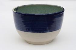 Porcelain Blue Melon oustide, Celadon inside - Medium Bowl - £20