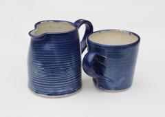 Porcelain Blue, Mug and Jug