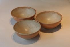 Bowls - Melon Glaze Outer, Ivory Inner