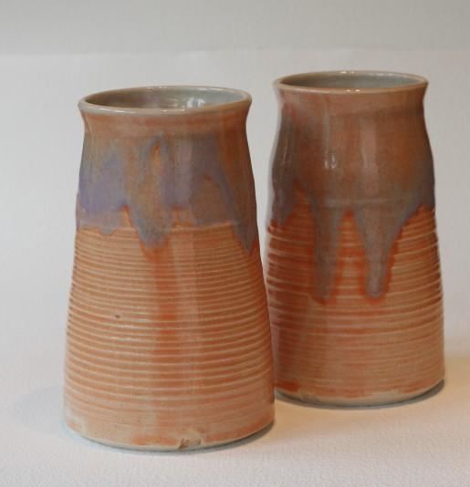 Melon base glaze with overlay of Lilac - £30 each